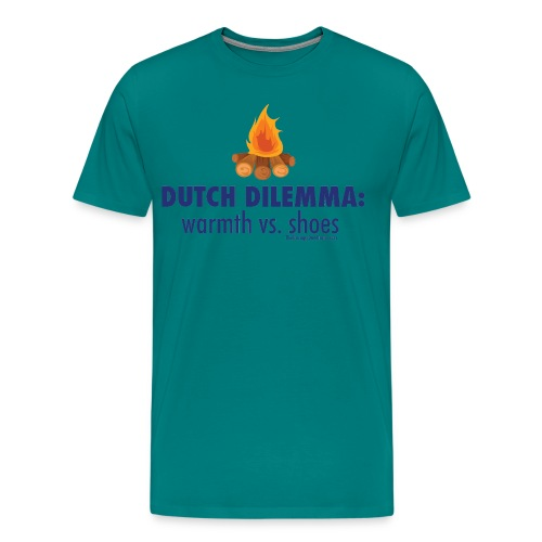 05 Dutch Dilemma blue lettering - Men's Premium T-Shirt
