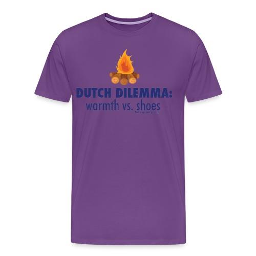 05 Dutch Dilemma blue lettering - Men's Premium T-Shirt