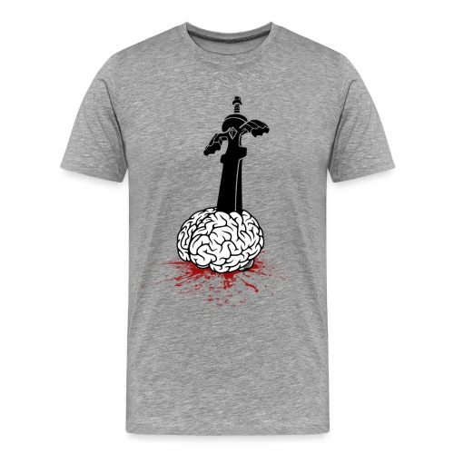 Sword in Brain - Men's Premium T-Shirt