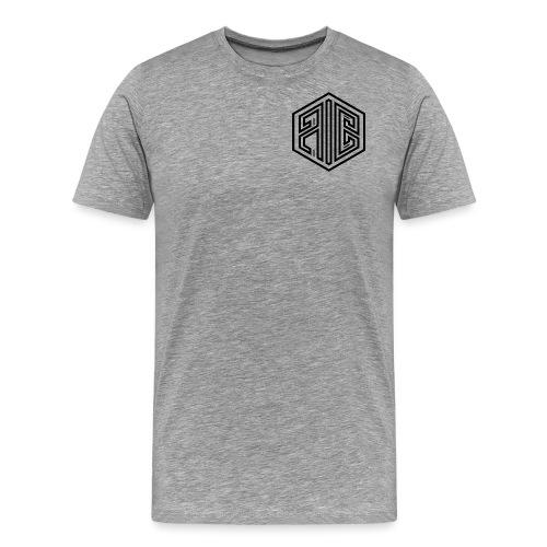 Whiteout // BLACK Brand Logo > WHITE - Men's Premium T-Shirt