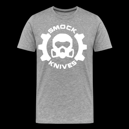 Smock Knives White Large Logo - Men's Premium T-Shirt