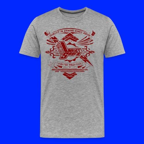 Vintage Leet Sauce Studios Crest Red - Men's Premium T-Shirt