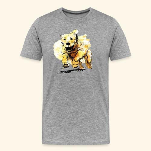 oil dog - Men's Premium T-Shirt