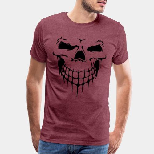 skull rock metal face - Men's Premium T-Shirt