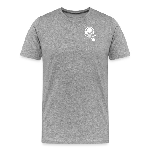 Silver Pirate Logo White LARGE TRANS - Men's Premium T-Shirt