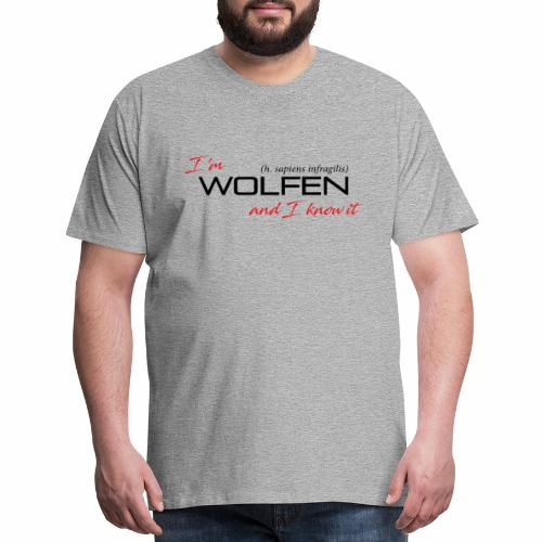 Wolfen Attitude on Light - Men's Premium T-Shirt