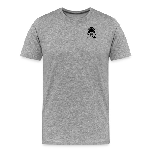 Silver Pirate Logo Inverted LARGE TRANS - Men's Premium T-Shirt