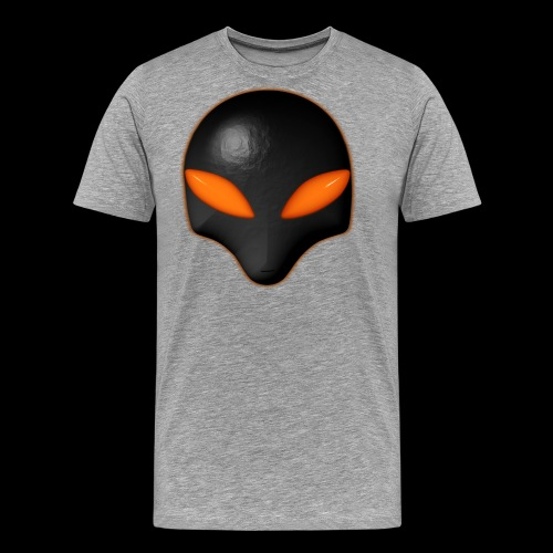 Alien Bug Face Orange Eyes - Men's Premium T-Shirt