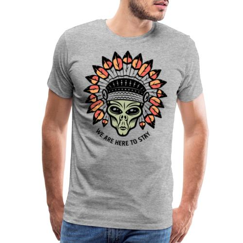 alien native indian - Men's Premium T-Shirt