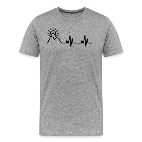 Heartbeat of a Traveler - Men's Premium T-Shirt