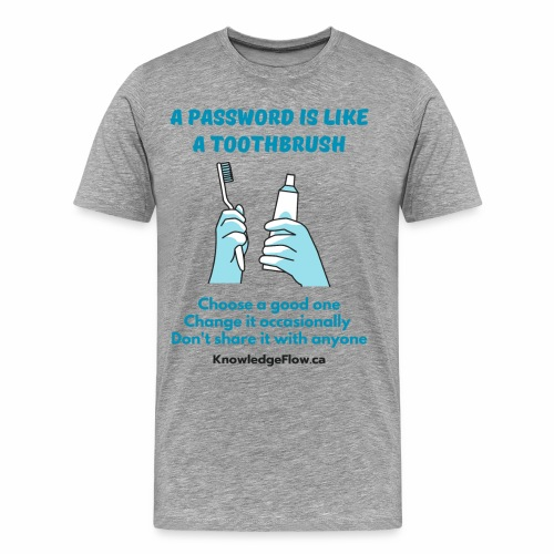 A Password is Like a Toothbrush...(2) - Men's Premium T-Shirt