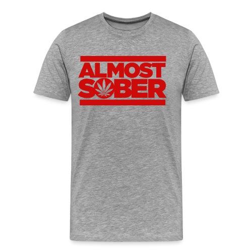 ALMOST SOBER weed leaf png - Men's Premium T-Shirt
