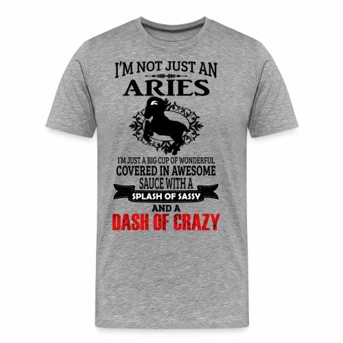 06 not just an aries black - Men's Premium T-Shirt