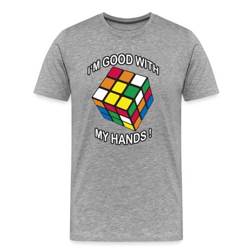 Rubik's Cube Good With My Hands - Men's Premium T-Shirt