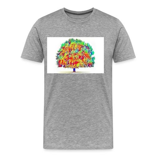 colorful tree - Men's Premium T-Shirt