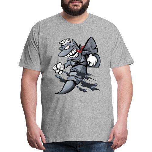 F/A-18 Hornet Fighter Attack Military Jet Cartoon - Men's Premium T-Shirt