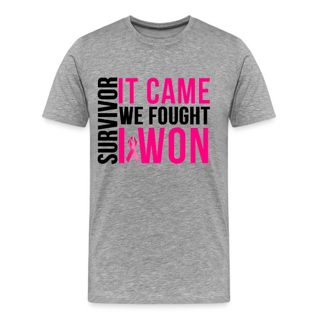 tee We Fought Breast Cancer Survivor and i Won Cancer Awarness Unisex Sweatshirt