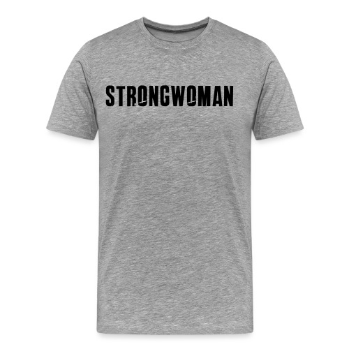 strongwoman horiz - Men's Premium T-Shirt