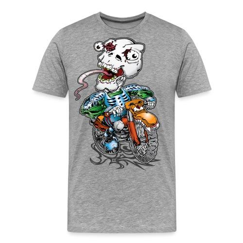 Skull-Tongued Dirtbiker - Men's Premium T-Shirt