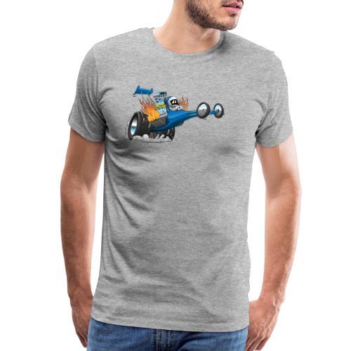 Top Fuel Dragster Cartoon - Men's Premium T-Shirt