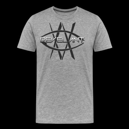 Revelant eye and text logo, black. - Men's Premium T-Shirt