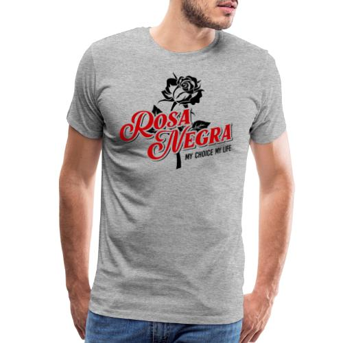 rosa negra black rose - Men's Premium T-Shirt