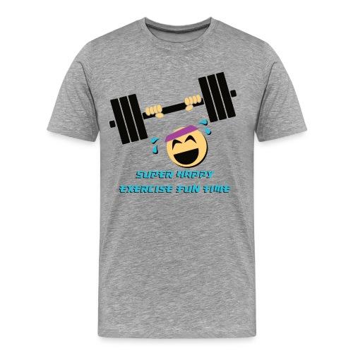 Super happy exercise fun time! - Men's Premium T-Shirt