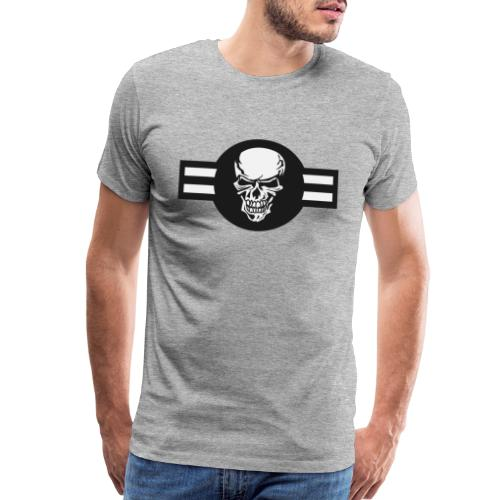 Military aircraft roundel emblem with skull - Men's Premium T-Shirt