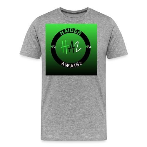 Haider Awais Logo Green - Men's Premium T-Shirt