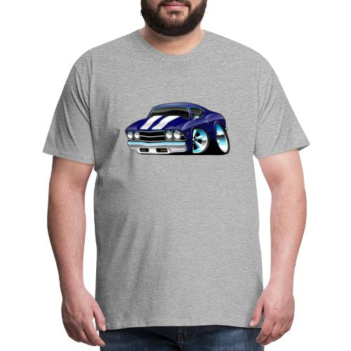 Classic American Muscle Car Cartoon - Men's Premium T-Shirt