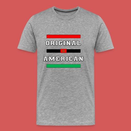 Original American Bars Moorish American Flag - Men's Premium T-Shirt