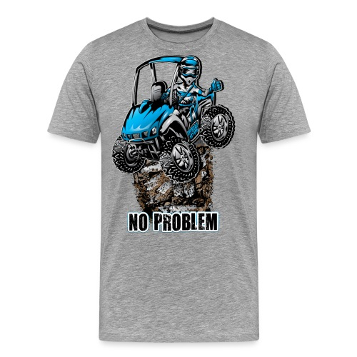 UTV SxS No Problem Blue - Men's Premium T-Shirt