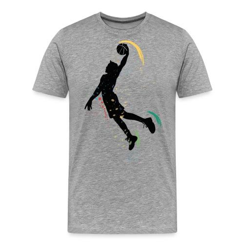 basketball drawing player grunge silhouette decor - Men's Premium T-Shirt