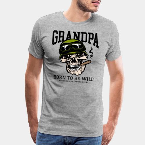 grandpa born wild - Men's Premium T-Shirt