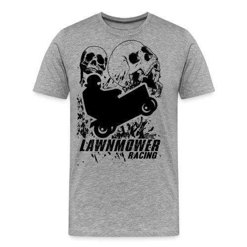 Lawnmower Race Cranial Scream - Men's Premium T-Shirt