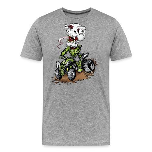 ATV Quad Crazy Skully - Men's Premium T-Shirt