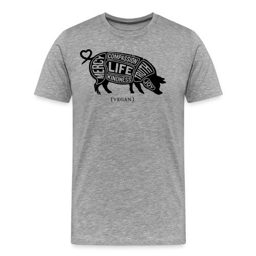 Cuts of Compassion - Black w/white - Men's Premium T-Shirt