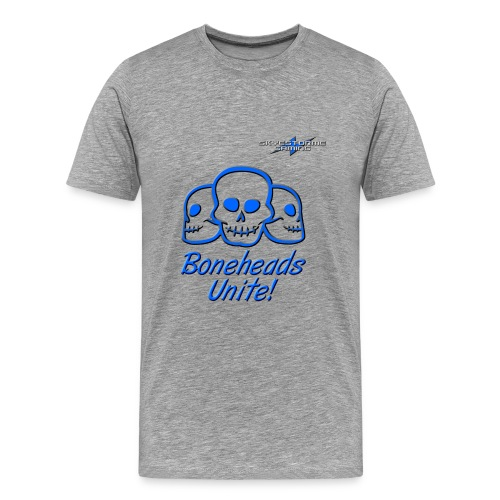 Boneheads Unite Blue 800ppi png - Men's Premium T-Shirt