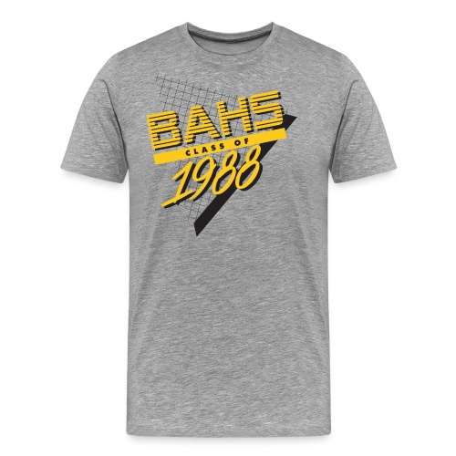 Black and Yellow Logo for Gray Shirt - Men's Premium T-Shirt