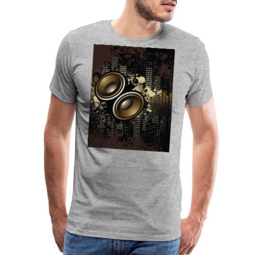 Funky Speakers Brown - Men's Premium T-Shirt
