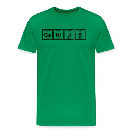 Genius (Periodic Elements) - Men's Premium T-Shirt