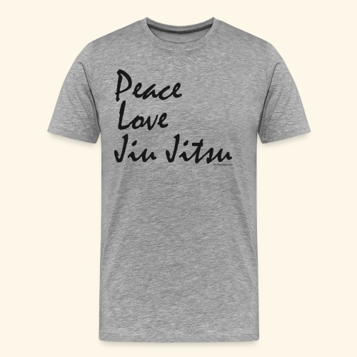 Jiu Jitsu - Peace Love bw - Men's Premium T-Shirt