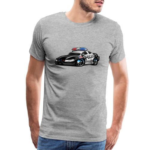 Police Muscle Car Cartoon - Men's Premium T-Shirt