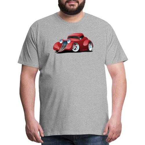 Red Hot Rod Restomod Custom Coupe Cartoon - Men's Premium T-Shirt