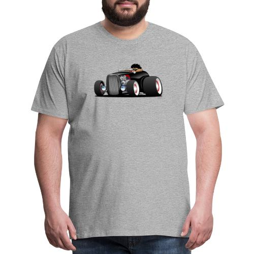 Classic Street Rod Hi Boy Roadster Cartoon - Men's Premium T-Shirt