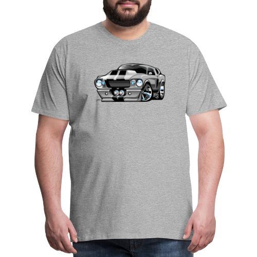 Classic Sixties American Muscle Car Cartoon - Men's Premium T-Shirt