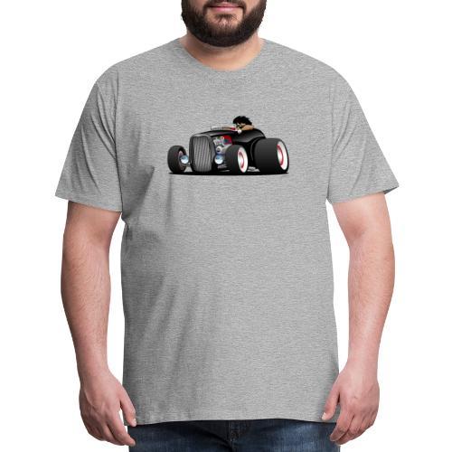 Classic Street Rod Hi Boy Roadster Cartoon - Men's Premium T-Shirt