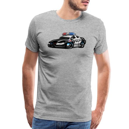 Police Muscle Car Cartoon - Men's Premium T-Shirt