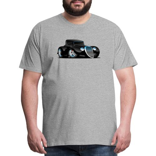Black Hot Rod Classic Coupe Custom Car Cartoon - Men's Premium T-Shirt