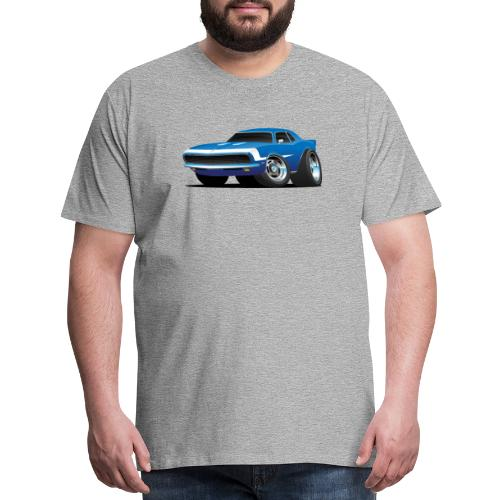 Classic Sixties Muscle Car Hot Rod Cartoon - Men's Premium T-Shirt